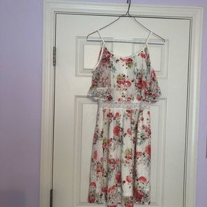 Beauty and the Beast! A floral dress!
